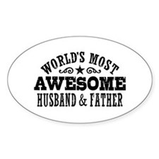 Awesome Husband And Father Decal