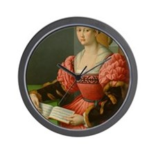 Portrait of a Woman with a Book of Musi Wall Clock