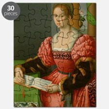 Portrait of a Woman with a Book of Music by Puzzle