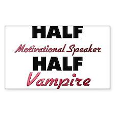 Half Motivational Speaker Half Vampire Decal