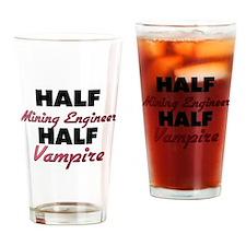 Half Mining Engineer Half Vampire Drinking Glass