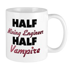 Half Mining Engineer Half Vampire Mugs