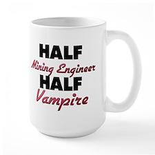 Half Mining Engineer Half Vampire Mugs