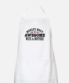 Awesome Wife And Mother Apron