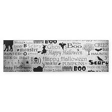 Halloween Grunge Bumper Sticker