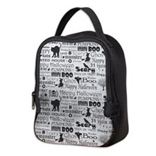 Halloween Grunge Neoprene Lunch Bag