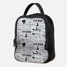 Halloween Grunge Neoprene Lunch Bag
