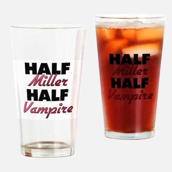 Half Miller Half Vampire Drinking Glass
