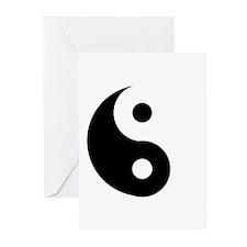 Yin & Yang (Traditional) Greeting Cards (Pk of 10)