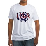 USA Stars Fitted T-Shirt