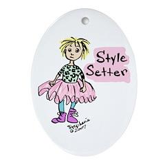 Style Setter Girl Oval Ornament