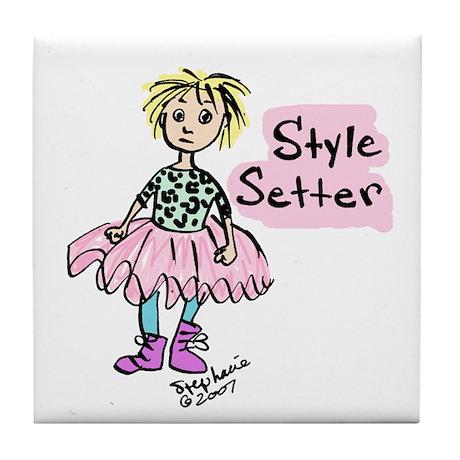 Style Setter Girl Tile Coaster