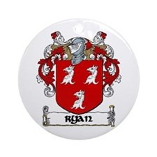 Ryan Coat of Arms Ornament (Round)