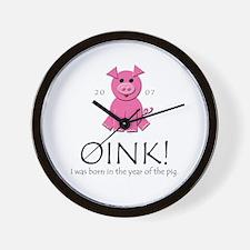 """""""OINK!"""" [2007] Wall Clock"""