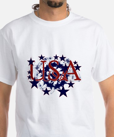 USA Stars White T-Shirt