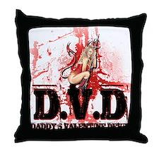 Daddy's Valentine Devil Throw Pillow