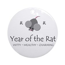 """""""Year of the Rat"""" Ornament (Round)"""
