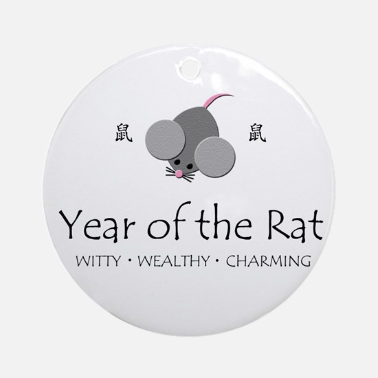 """Year of the Rat"" Ornament (Round)"