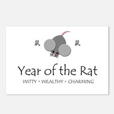 """""""Year of the Rat"""" Postcards (Package of 8)"""