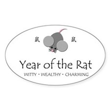 """Year of the Rat"" Oval Decal"