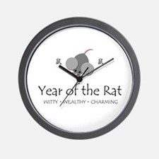 """""""Year of the Rat"""" Wall Clock"""