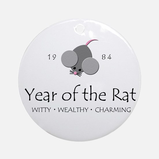 """Year of the Rat"" [1984] Ornament (Round)"