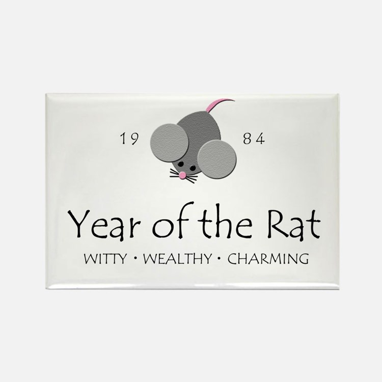 """Year of the Rat"" [1984] Rectangle Magnet"