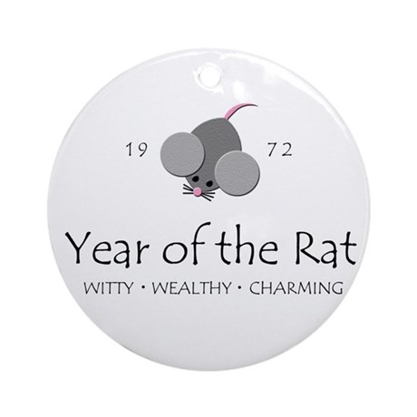 """""""Year of the Rat"""" [1972] Ornament (Round)"""