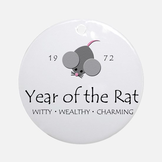 """Year of the Rat"" [1972] Ornament (Round)"