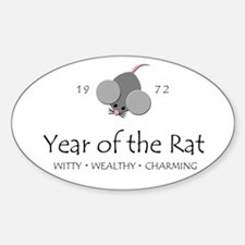 """Year of the Rat"" [1972] Oval Decal"