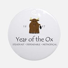 """Year of the Ox"" [1997] Ornament (Round)"