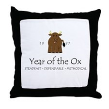 """""""Year of the Ox"""" [1997] Throw Pillow"""