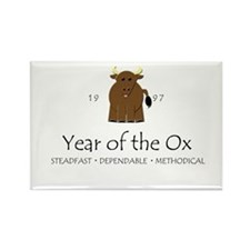 """Year of the Ox"" [1997] Rectangle Magnet"