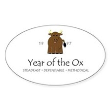 """""""Year of the Ox"""" [1997] Oval Bumper Stickers"""