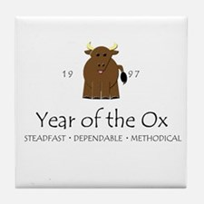 """""""Year of the Ox"""" [1997] Tile Coaster"""