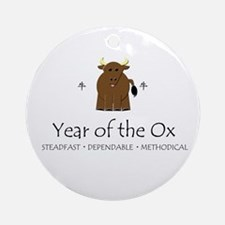 """""""Year of the Ox"""" Ornament (Round)"""