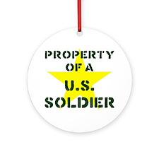 P of USS Ornament (Round)