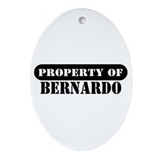 Property of Bernardo Oval Ornament
