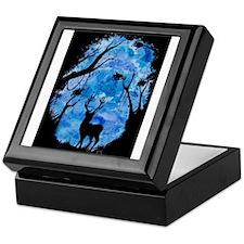 Blue Deer Keepsake Box