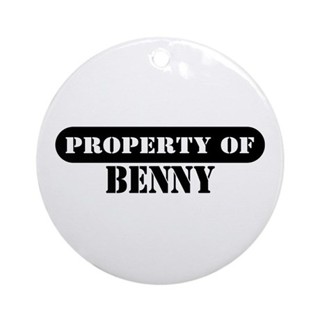Property of Benny Ornament (Round)