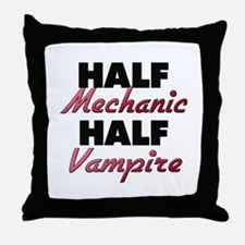 Half Mechanic Half Vampire Throw Pillow