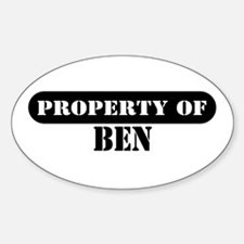 Property of Ben Oval Decal