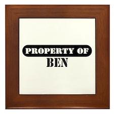 Property of Ben Framed Tile