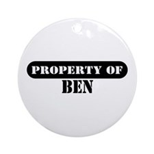 Property of Ben Ornament (Round)