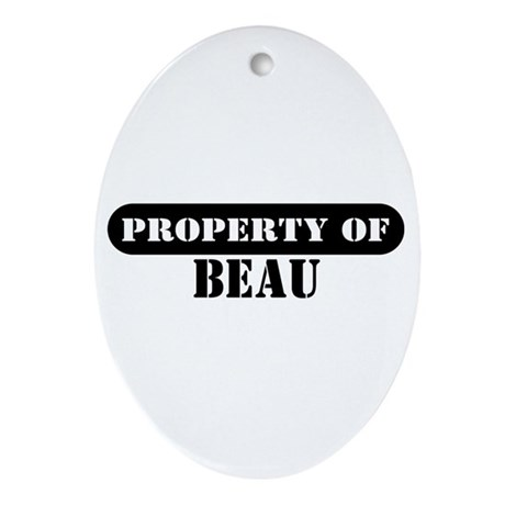 Property of Beau Oval Ornament