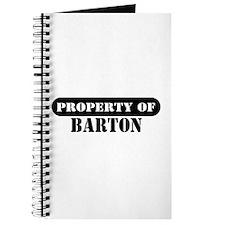 Property of Barton Journal