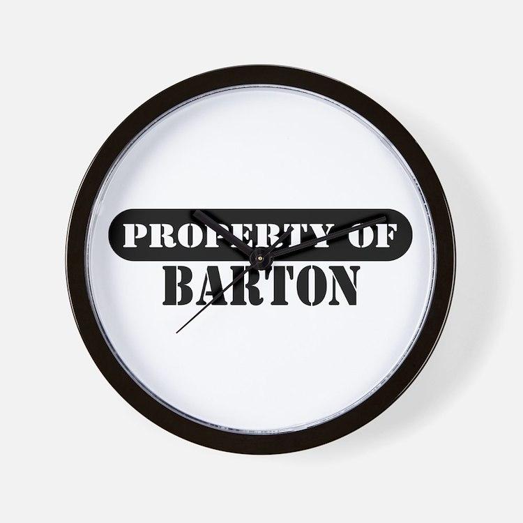 Property of Barton Wall Clock