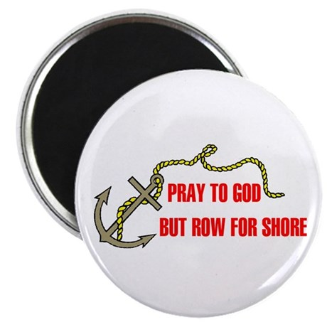 """ROW FOR SHORE 2.25"""" Magnet (10 pack)"""