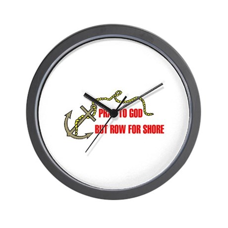 ROW FOR SHORE Wall Clock