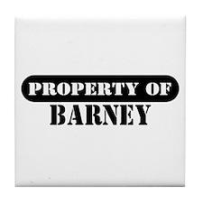 Property of Barney Tile Coaster